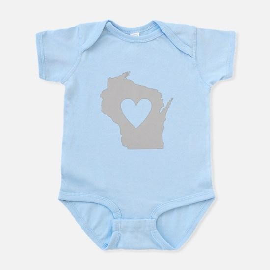 Heart Wisconsin Infant Bodysuit