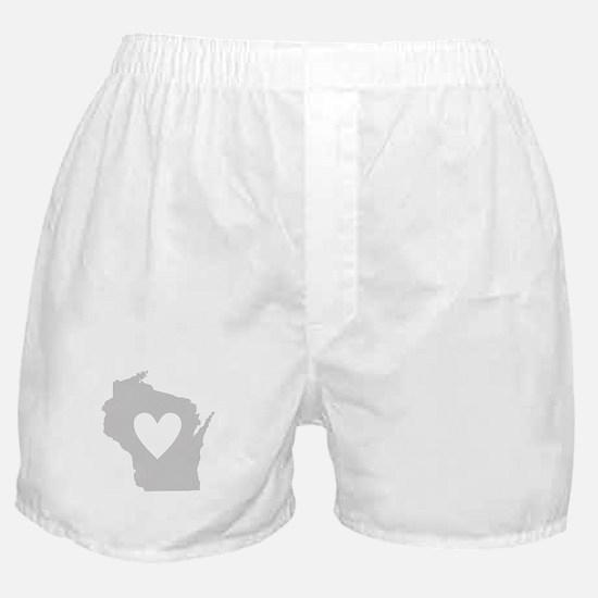 Heart Wisconsin Boxer Shorts