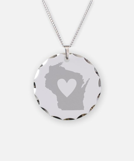 Heart Wisconsin Necklace