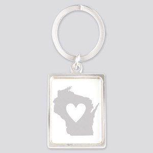 Heart Wisconsin Portrait Keychain
