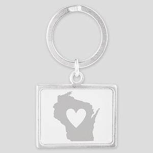Heart Wisconsin Landscape Keychain
