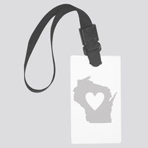 Heart Wisconsin Large Luggage Tag
