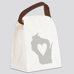 Heart Wisconsin Canvas Lunch Bag