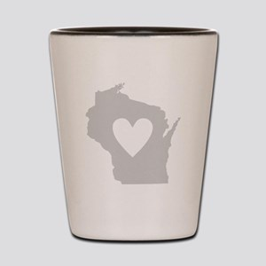 Heart Wisconsin Shot Glass