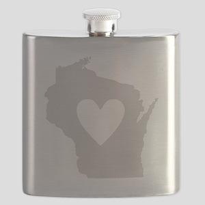 Heart Wisconsin Flask