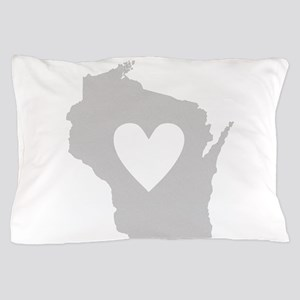 Heart Wisconsin Pillow Case