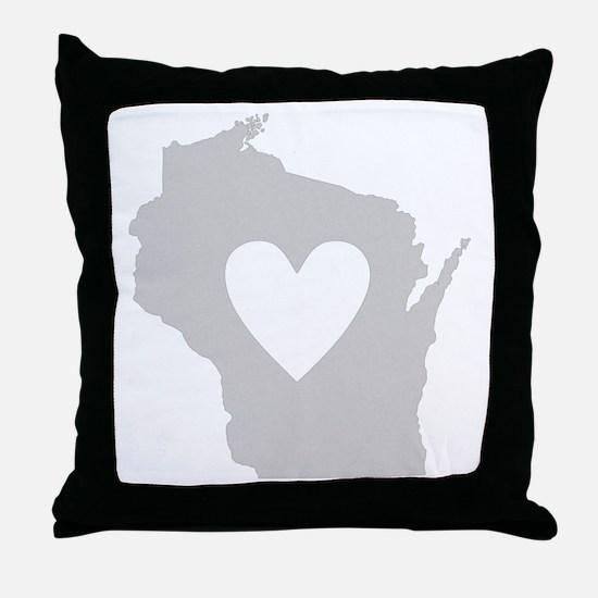 Heart Wisconsin Throw Pillow