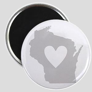 Heart Wisconsin Magnet