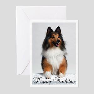 Happy Birthday W/Sheltie Greeting Cards (Pk of 20)