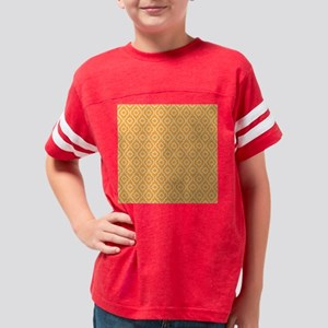 Yellow - Orange Geometric Ret Youth Football Shirt