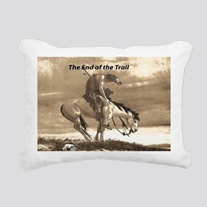 End of Trail Rectangular Canvas Pillow