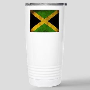 Jamaica Flag Stainless Steel Travel Mug