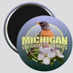 Michigan State Bird & Flower Magnets