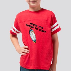Never Too Young To Start Surf Youth Football Shirt