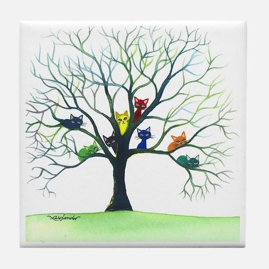 Eau Claire Stray Cats Tile Coaster