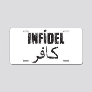 Original Infidel Aluminum License Plate