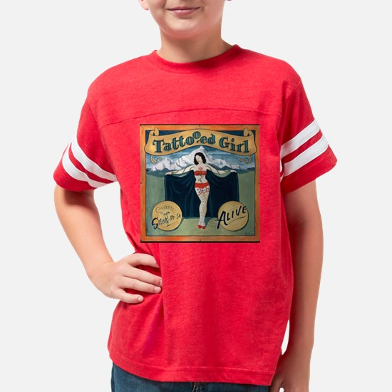 Tattooed Girl Sideshow Banner Youth Football Shirt