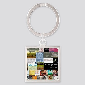 Running College Square Keychain
