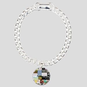 Running College Charm Bracelet, One Charm