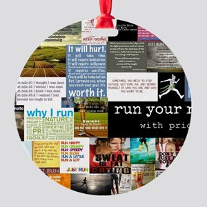 Running College Round Ornament