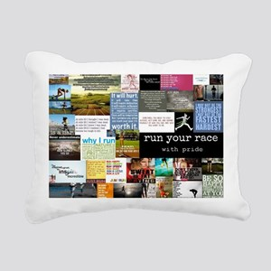 Running College Rectangular Canvas Pillow