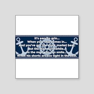 Caddyshack Yacht Club Poem Sticker