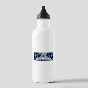 Caddyshack Yacht Club Poem Water Bottle
