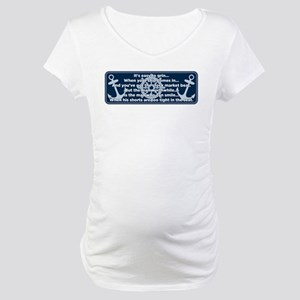 Caddyshack Yacht Club Poem Maternity T-Shirt