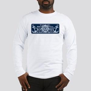 Caddyshack Yacht Club Poem Long Sleeve T-Shirt