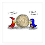 Bird Seed Ball Square Car Magnet 3