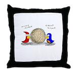 Bird Seed Ball Throw Pillow