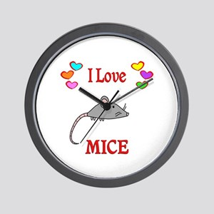 I Love Mice Wall Clock