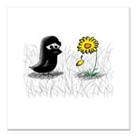 Lewis and Flower Square Car Magnet 3