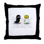 Lewis and Flower Throw Pillow