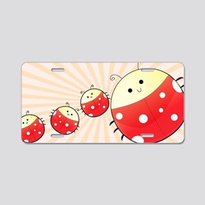 cute chibi kawaii ladybugs  Aluminum License Plate