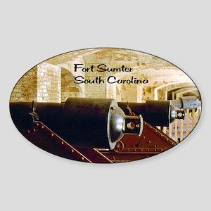 Fort Sumter Sticker (Oval)