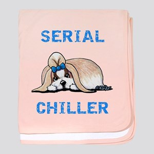 KiniArt Shih Tzu Serial Chiller baby blanket