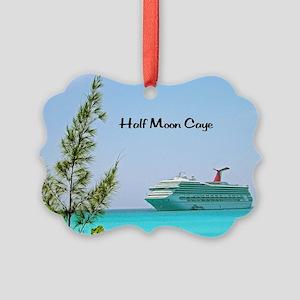 Half Moon Caye Picture Ornament