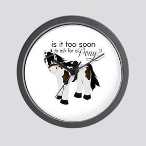 Is it too soon to ask for a Pony Wall Clock
