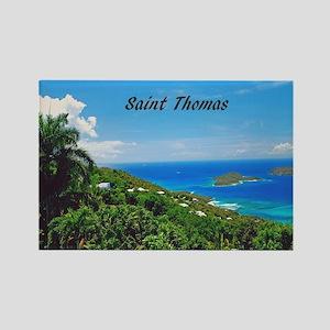 St. Thomas Rectangle Magnet