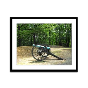 Lees Hill Cannon Framed Panel Print