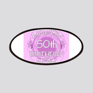 50th Birthday For Mom (Floral) Patches