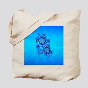 Blue Hawaiian Honu Turtles Tote Bag