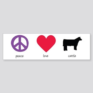 Peace - Love - Cattle Bumper Sticker