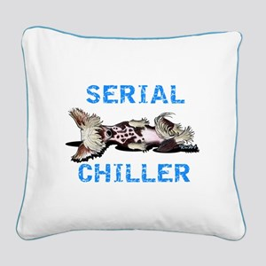 Chinese Crested Serial Chiller Square Canvas Pillo