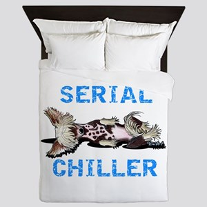 Chinese Crested Serial Chiller Queen Duvet