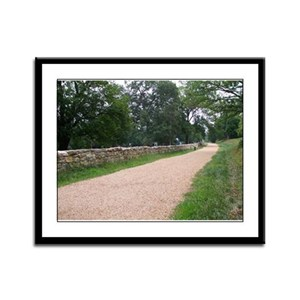 Sunken Road Framed Panel Print