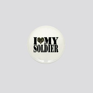 I Love My Soldier Mini Button