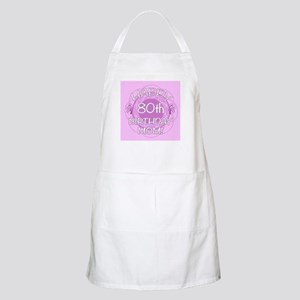 80th Birthday For Mom (Floral) Apron