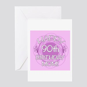 90th Birthday For Mom Floral Greeting Card